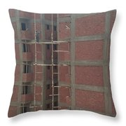 Egyptian Builders Throw Pillow