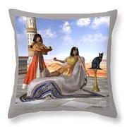 Egyptian Cleopatra Throw Pillow