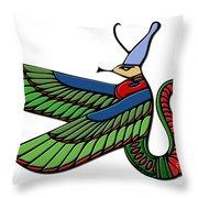 Egyptian Demon Throw Pillow
