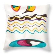 Egyptian Design Throw Pillow