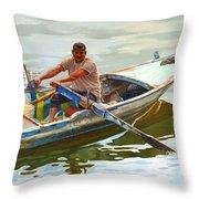 Egyptian Fisherman Throw Pillow