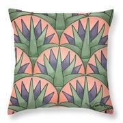 Egyptian Floral Throw Pillow