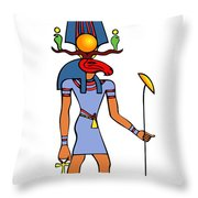 Egyptian God - Khensu Throw Pillow