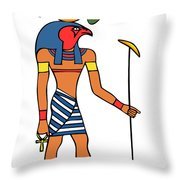 Egyptian God Of The Sun - Ra Throw Pillow