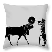 Egyptian Gods Throw Pillow