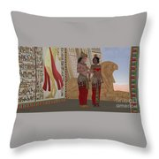 Egyptian King And Queen Throw Pillow