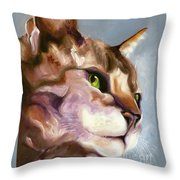 Egyptian Mau Princess Throw Pillow
