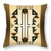 Egyptian Moderne Throw Pillow