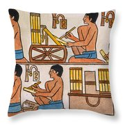 Egyptian Scribes Throw Pillow