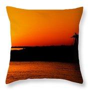 Egyptian Sunset On Lake Nasser Throw Pillow