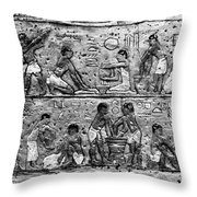 Egyptian Writing Throw Pillow