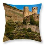 Ehrenfels Castle Ruin Throw Pillow