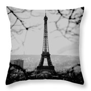 Eiffel Eyeful Throw Pillow