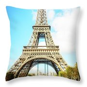 Eiffel Tower Portrait Throw Pillow