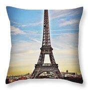 Eiffel Tower 2 Throw Pillow