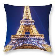 Eiffel Tower At Dusk. Throw Pillow