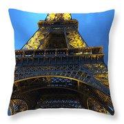 Eiffel Tower At Night. Paris Throw Pillow
