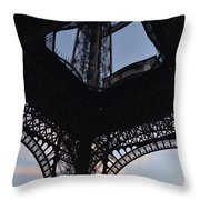 Eiffel Tower Corner Throw Pillow