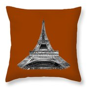 Eiffel Tower Design Throw Pillow