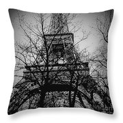 Eiffel Tower During The Winter. Throw Pillow