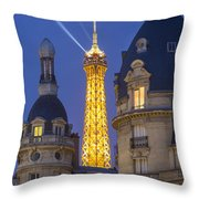 Eiffel Tower From Passy Throw Pillow by Brian Jannsen