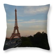 Eiffel Tower I Throw Pillow