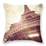 Eiffel Tower In Sunlight Throw Pillow
