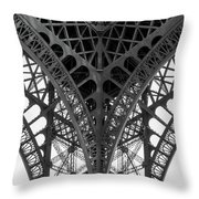 Eiffel Tower Leg Throw Pillow