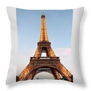 Eiffel Tower Lighted  Throw Pillow