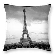 Eiffel Tower -panoramic. Throw Pillow