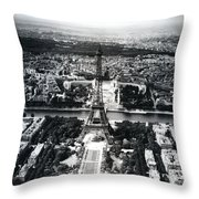 Eiffel Tower Paris In Wwii Throw Pillow