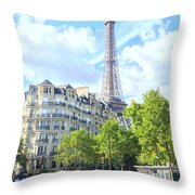 Eiffel Tower Paris Throw Pillow