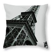 Eiffel Tower Slightly Askew Throw Pillow