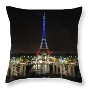 Eiffel Towers Throw Pillow