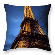 Eiffel's Magic Throw Pillow