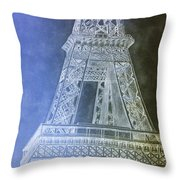 Eiffil Tower Inverted Throw Pillow