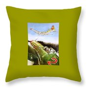 Eight Miles To The Ip Throw Pillow