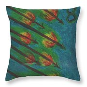 Eight Of Wands Illustrated Throw Pillow