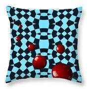 Eight Red Balls Throw Pillow