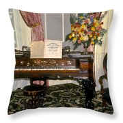 Eighteenth Century Piano And Parlor Throw Pillow