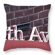 Eighth Avenue Sign New York Throw Pillow