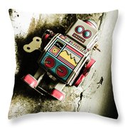 Eighties Cybernetic Droid  Throw Pillow