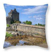 Eilean Donan Castle In Scotland Throw Pillow