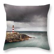 Eilean Glas Lighthouse 5 Throw Pillow