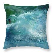 Ein Schwan - The Swan Throw Pillow