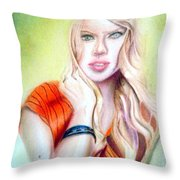 Eine Frau Ie The Girl Throw Pillow