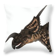 Einiosaurus Dinosaur Head Throw Pillow