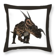 Einiosaurus On White Throw Pillow
