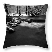 Eisbach In The Winter Throw Pillow