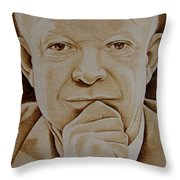 Eisenhower The Man - Poster Throw Pillow